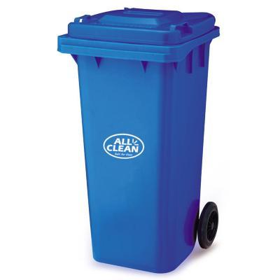 Basurero tapa 120 litros azul