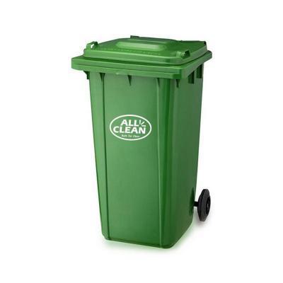 Basurero tapa 240 litros verde oscuro