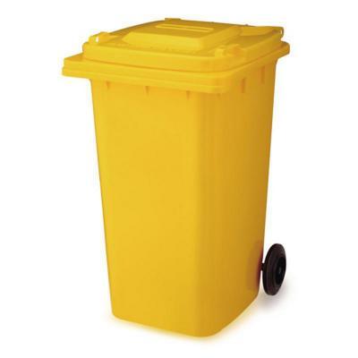 Basurero tapa 240 litros amarillo