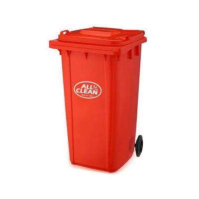 Basurero tapa 240 litros rojo