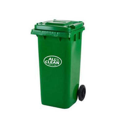 Basurero tapa 120 litros verde oscuro