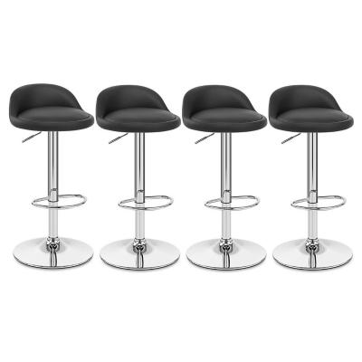 Pack 4 silla piso bar altura regulable negro