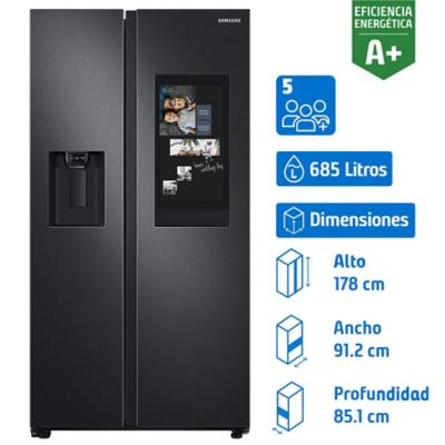 Refrigerador no frost side by side 685 litros