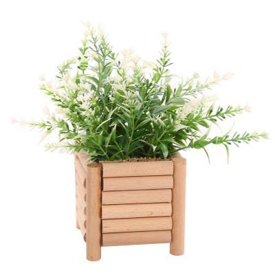 Planta artificial maceta madera 20 cm