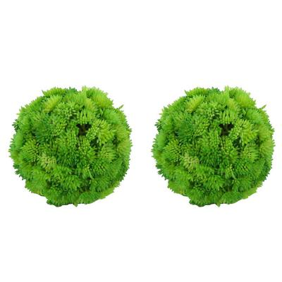 Set 2 esferas pasto artificial 11 cm verde
