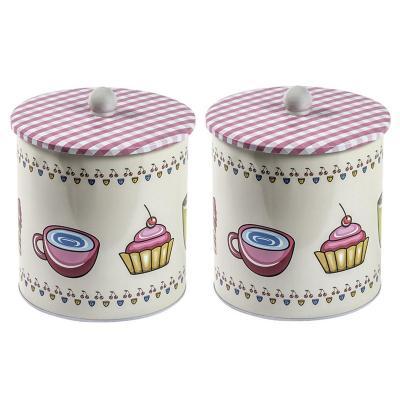 Set 2 tarros para cocina diseño vintage 27 cm