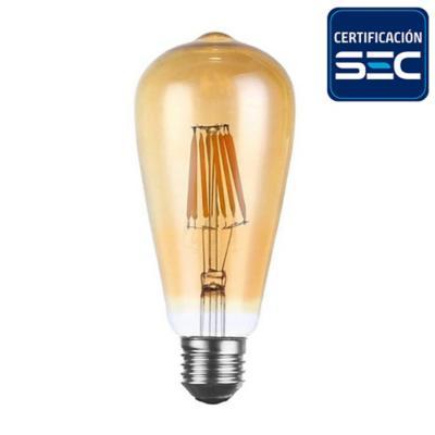 Ampolleta pera vintage filamento E27 4W luz cálida