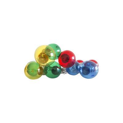 Guirnalda colores transparente 10 led pila