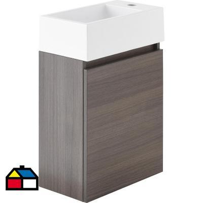 Mueble vanitorio gunnar 40x22x62 cm 1 puerta gris