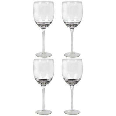 Juego copas espiral acero vino blanco 4 piezas