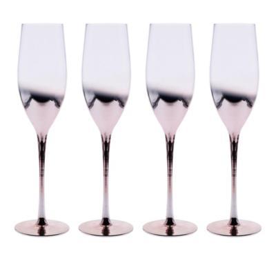 Juego copas tornasol champaña 4 piezas