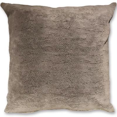 Cojín felpa texturada gris 45x45 cm