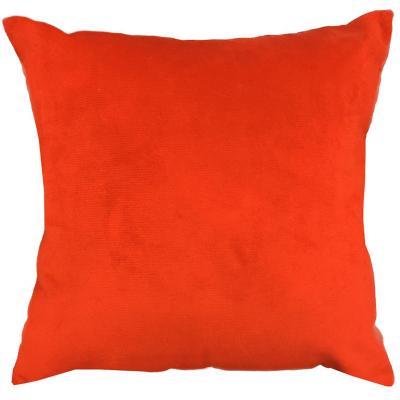 Cojín naranjo rojizo terciopelo 40x40 cm