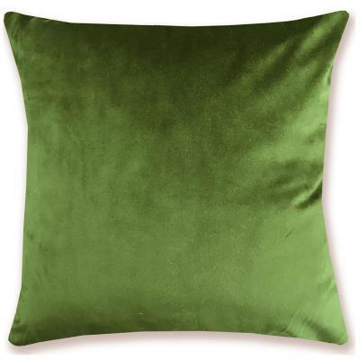 Cojín verde musgo terciopelo 45x45 cm