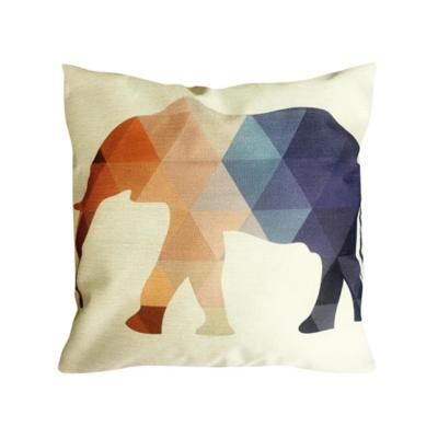 Cojín geométrico elefante multicolor 45x45 cm