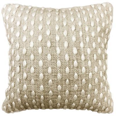 Cojín lana beige 45x45 cm