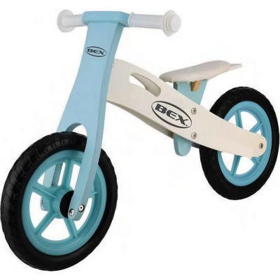 Bicicleta de equilibrio de madera azul