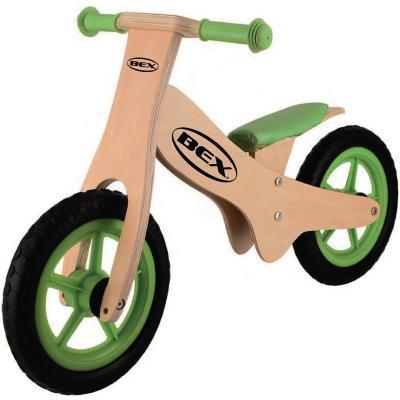 Bicicleta de equilibrio de madera verde