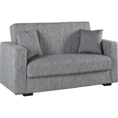 Sofá cama nora 2 cuerpos 160x73x83 gris