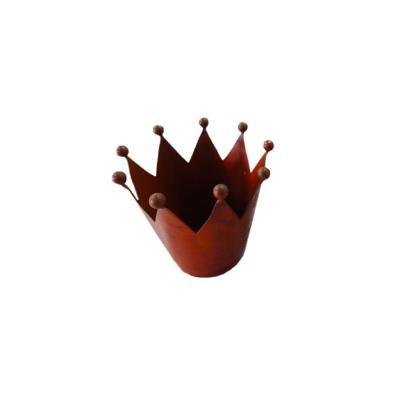 Corona decorativa 16x16x11,5 cm bronce