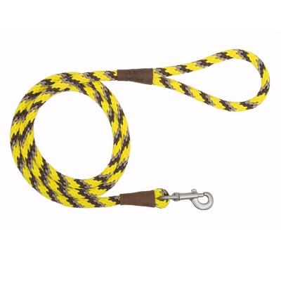 Correa perro grande 1,2 m largo amarilla
