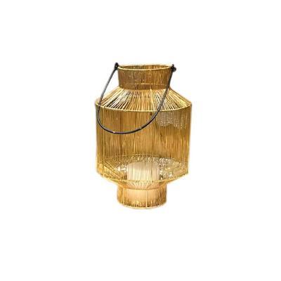 Portavela agra 20x20x30 cm dorado
