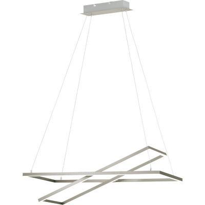 Lámpara colgante acero níquel satinado blanco LED;LED 16W