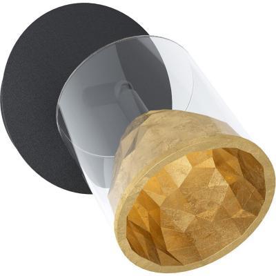 Foco acero  aluminio negro LED 1X5 4W