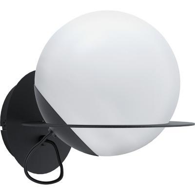 Lámpara muro acero negro blanco E27 1X40W