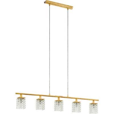 Lámpara colgante acero dorado G9 5X3W