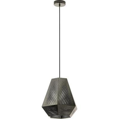 Lámpara colgante acero níquel E27 1X28W