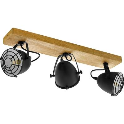 Foco madera negro E14 3X40W