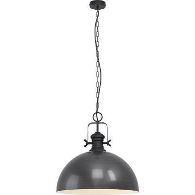 Lámpara colgante acero borgoña E27 1X60W