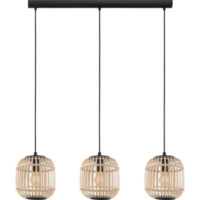 Lámpara colgante acero arce E27 3X28W