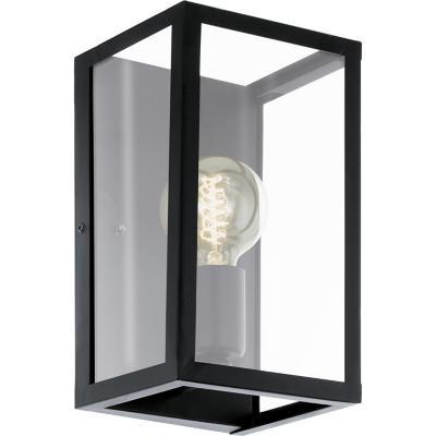 Lámpara muro acero negro E27 1X60W