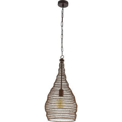 Lámpara colgante acero cobre E27 1X60W