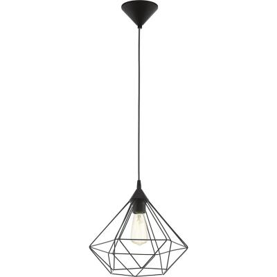 Lámpara colgante plástico negro E27 1X60W