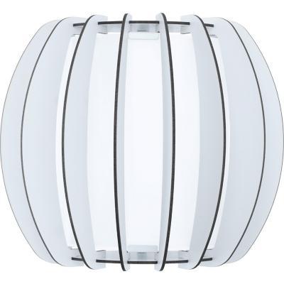 Lámpara muro acero blanco E27 1X60W