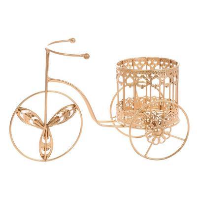 Bicicleta decorativa 22x33 cm metal dorado