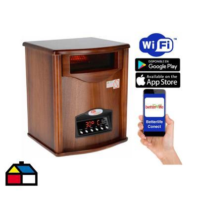Estufa infrarroja madera wi-fi smarthome 70 m²