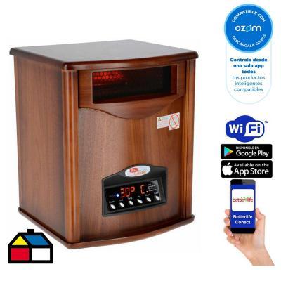 Estufa infrarroja madera uv wi-fi smarthome 70 m²