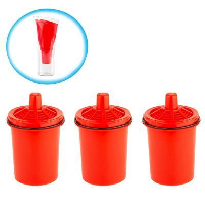 Pack 3 filtros  jarro purificador de agua rojo