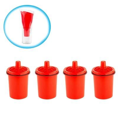 Pack 4 filtros  jarro purificador de agua rojo