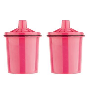 Pack 2 filtros  jarro purificador de agua rosa