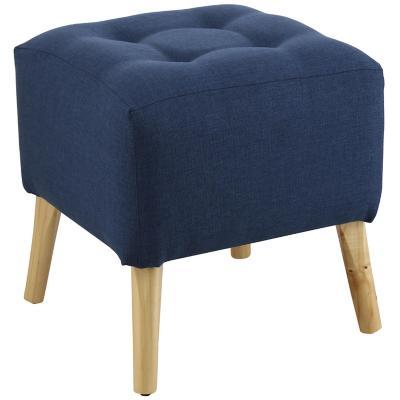 Pouf alemania cuadrado azul 46x46x46 cm