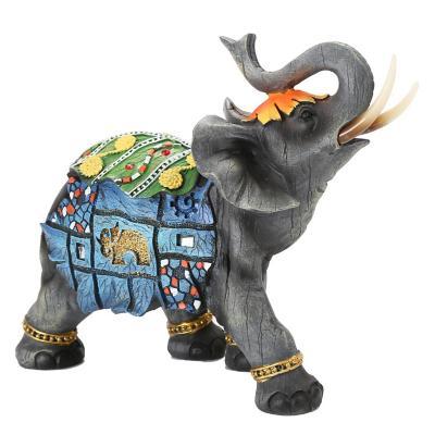 Figura decorativa elefante thai 20 cm gris