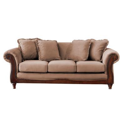 Sofá rimini 3c tela soft velvet beige