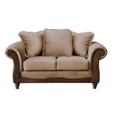 Sofá rimini 2c tela soft velvet beige