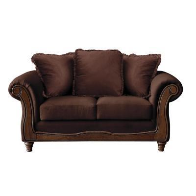 Sofá rimini 2c tela soft velvet chocolate