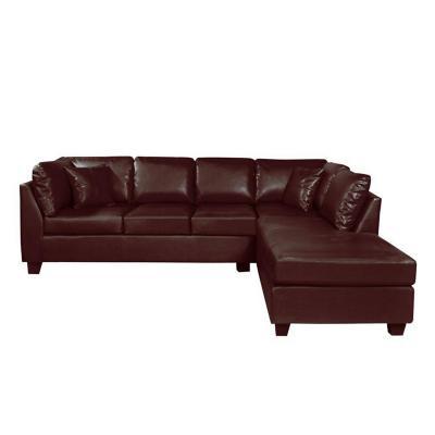 Sofá seccional padua derecho pu marrón